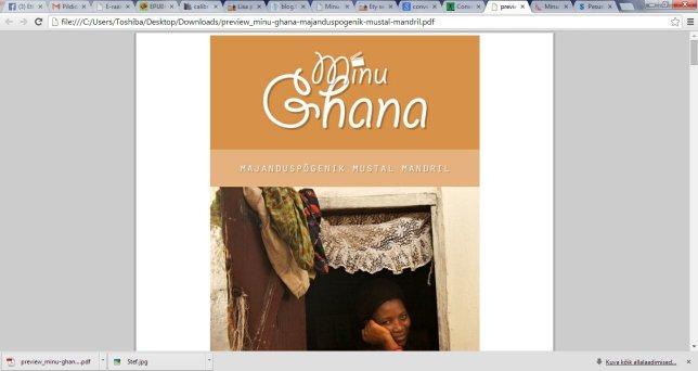 minu ghana, veebis, konventeerimine, online book, e-raamat