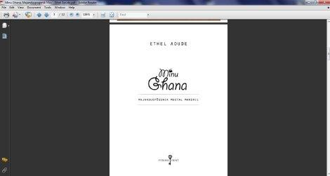 pdf, konverteerimine, e-raamat,  calibre, ethel aoude, minu ghana,