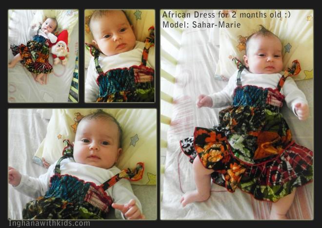 aafrika kangas, aafrika kleit, beebile, 2 kuune
