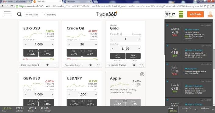kauplemine, binaarsed optsioonid, konto, trading, trade360